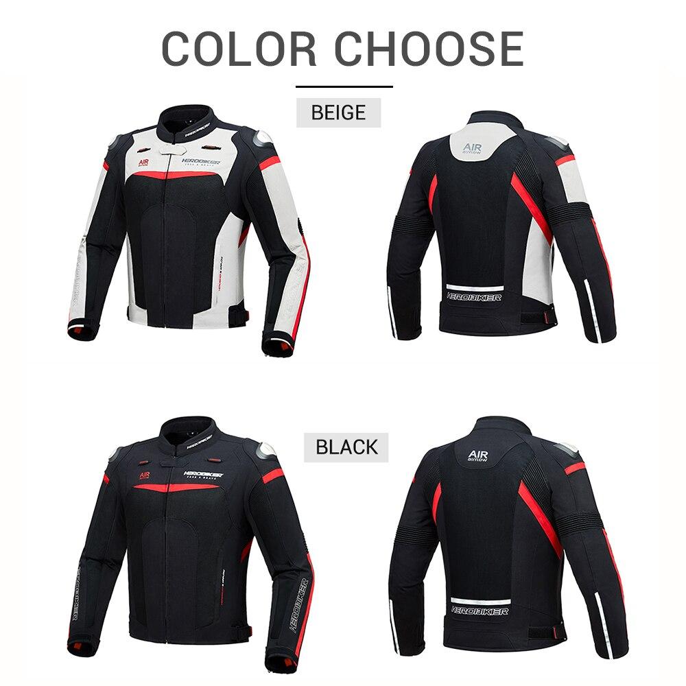 HEROBIKER automne hiver veste de Moto équipement de Protection hommes Moto Motocross hors route veste de course Moto Protection - 4