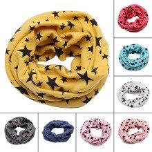 Весенне-осенний хлопковый шарф для детей, зимний шарф для маленьких мальчиков и девочек, шарфы с героями мультфильмов, детский воротник с круглым вырезом, волшебный шейный платок