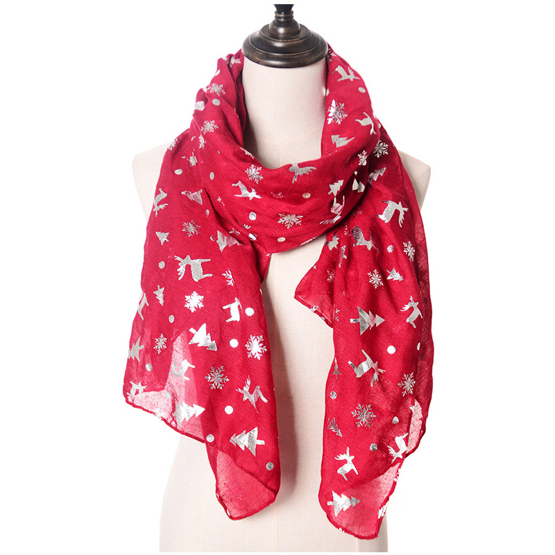 Soft Cashmere Scarf For Women Fashion Lady Shawls,Comfortable Warm Winter Scarfs Brown Christmas Puppy Chihuahua In Pullover Snowflake Scarf Santa