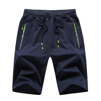 Men's knitted Capris Summer new casual shorts cotton youth sports pants loose large shorts men's pants Casual Male Sports Shorts 1