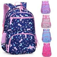 Primary-School-Bags Girl Backpack Waterproof Widen-Shoulder-Strip for Cute Comfortable