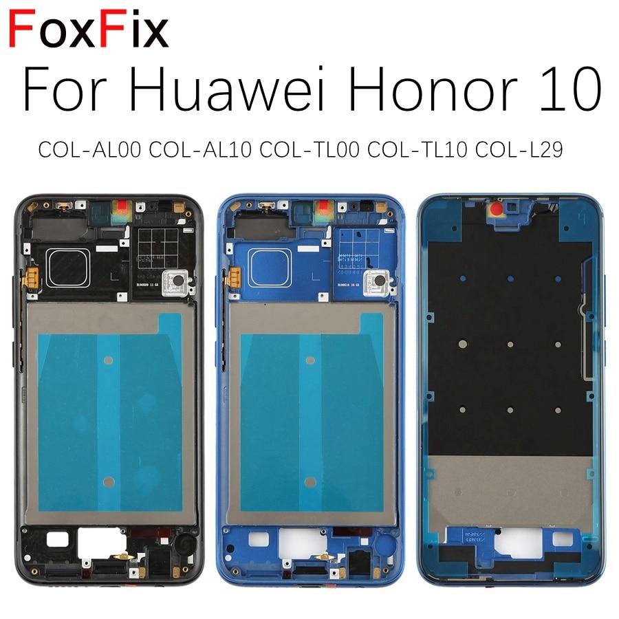 Оригинальная передняя рамка для Huawei Honor 10 5,84 дюйма, передняя рамка, средняя рамка, корпус с боковыми кнопками питания