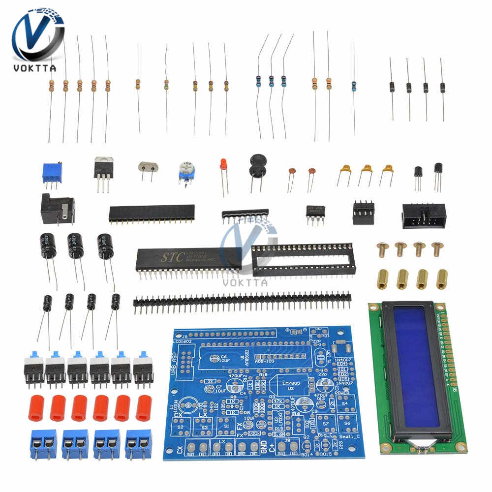 Kapasitor Tester DIY Kit Set Digital LCD Display Induktansi Meter Frekuensi Komponen Tester 0.1 Μh-1 H