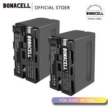 Bonacell 7,2 V 8700 мА/ч, NP-F960 NP-F970 NP F960 F970 F950 Батарея для sony PLM-100 CCD-TRV35 MVC-FD91 MC1500C L50