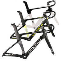 2020 Costelo AEROCRAFT Carbon Road bicycle Frameset disc brake thru axle bike frame fork seatpost with 5D handlebar