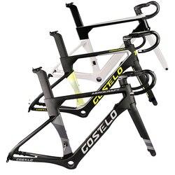 2020 Costelo AEROCRAFT cuadro de bicicleta de carretera de carbono freno de disco a través del eje horquilla de cuadro de bicicleta tija de sillín con manillar 5D