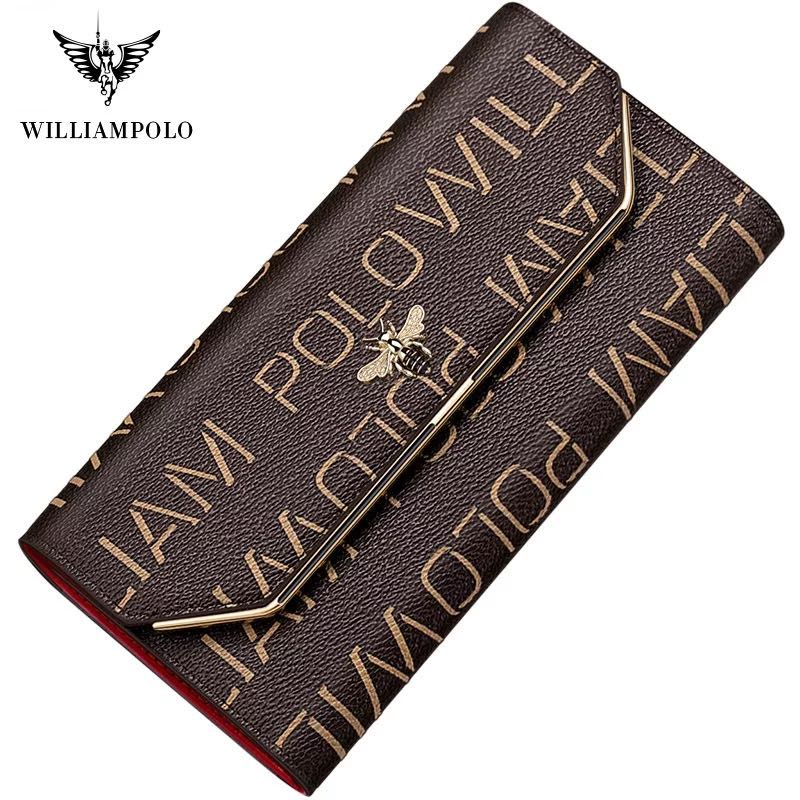 2020 new leather women's wallet long fashion three fold purse tassel Design Hand Purse small size large capacity women's purse