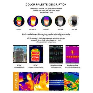 Image 5 - כף יד IR תרמית הדמיה מצלמה דיגיטלי תצוגת HT 19 גבוהה אינפרא אדום תמונה ברזולוציה תרמית Imager