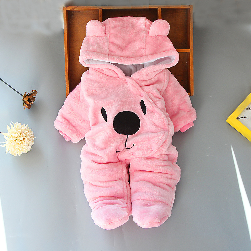 2019 Winter Newborn Baby Girls Costume Clothes Overalls For Children Cotton Baby Rompers For Baby Boys Jumpsuit Infant Clothing