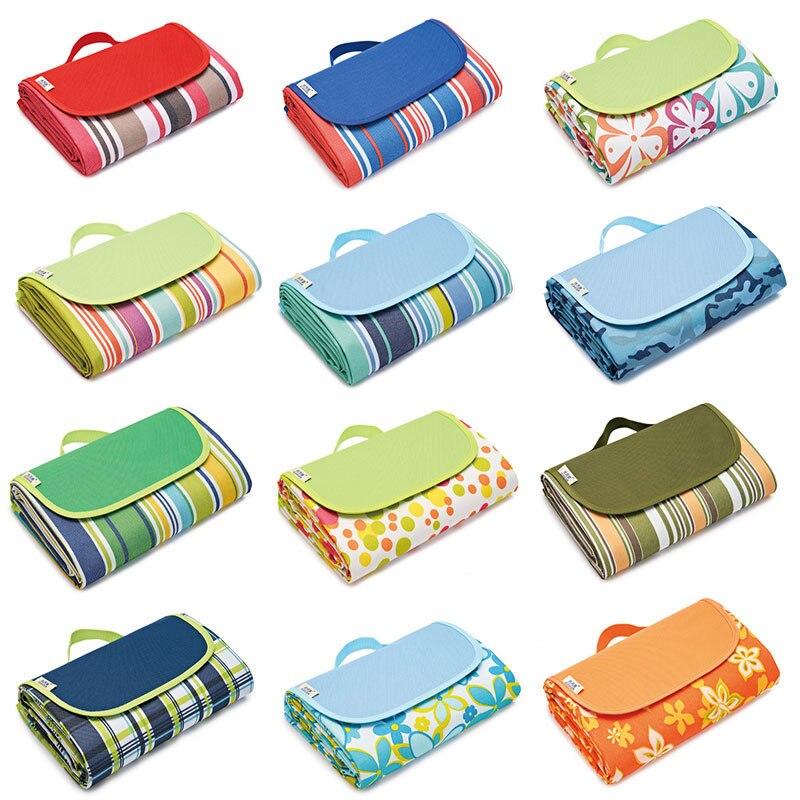 Oxford Cloth Outdoor Picnic Mat Foldable Backpack Design Moisture-proof Garden Lawn Mat Beach Mat Tent Mat Camping Supplies