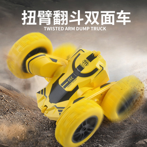 1/28 RC Stunt Car High Speed Tumbling Crawler Vehicle 360 Degree Flips Double Sided Rotating Tumbling RC Car