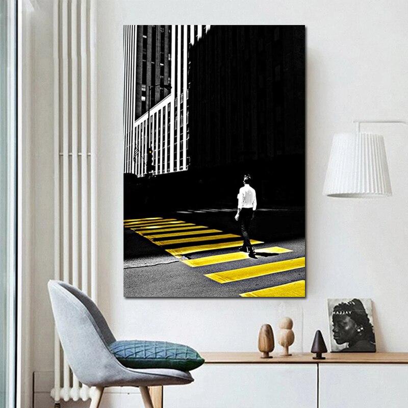 Купить желтый стиль масляная краска для рисования прогулки по дороге