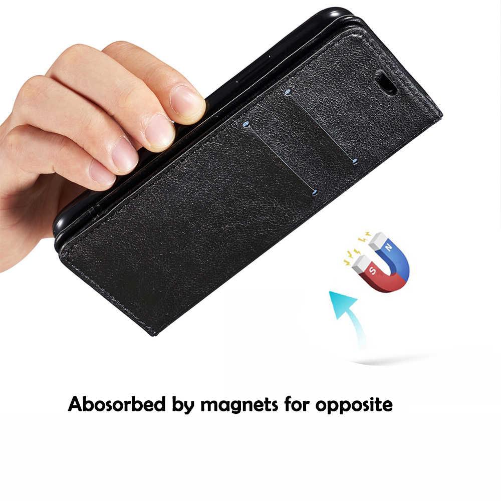 الجلود حقيبة لهاتف أي فون X 5 5 s Se 6 6 s 7 8 زائد سامسونج S6 S7 حافة S8 S9 ملاحظة 8 5 لينة محفظة فليب حافظة للبطاقات رجل سيدة الذكية حقيبة