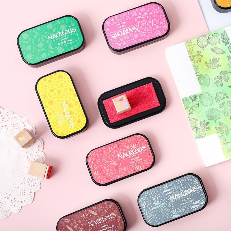 Pearlescent Color Scarpbooking Special Ink Pad DIY Decorative Seal Partner Inkpad