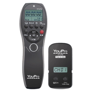 YouPro VT-2 Wireless Video Remote Control with Timer Shutter for Sony A7 A7R A7S A7II A7SII neewer gn60 2 4g manual hss master slave flash speedlite for sony a7 a7s a7sii a7r a7rii a7ii a6000 a6300 a6500 a77ii a58 a99