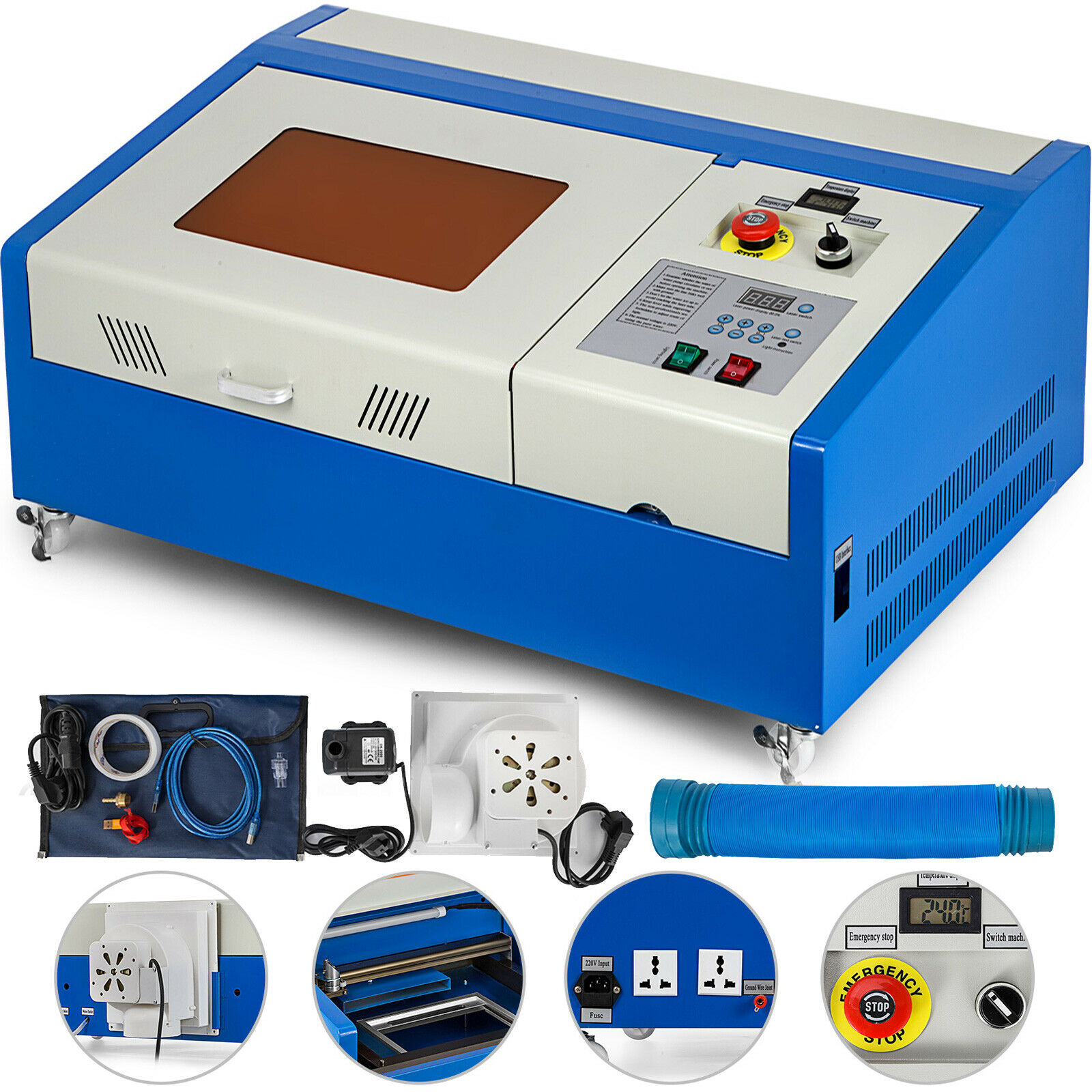 Poland Warehouse 40W CO2 USB Laser Engraving Cutting Machine Engraver Wood Cutter