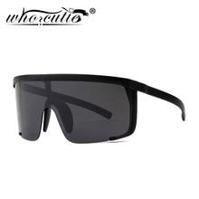 WHO CUTIE 2018 Oversize Shield Sunglasses Visor Men Women On