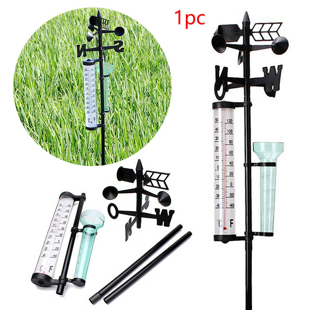 Garden Outdoor Weather Station Meteorological Measurer Vanes Tool Wind Rain Gauge Thermometer GK99