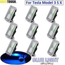 Luz LED azul ultrabrillante para Tesla modelo 3 Modelo S modelo X luz Interior puerta maletero Footwell guantera luz Lámpara decorativa