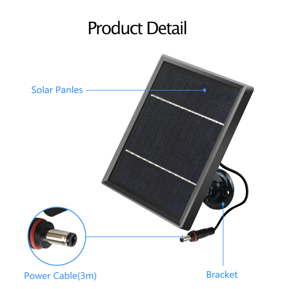 Image 5 - Hismaho Solar Panel 3.3W 12V 3 Meter Cable For Outdoor Camera Security CCTV Rechargeable Battery Powered IP WiFi CameraCCTV Accessories   -