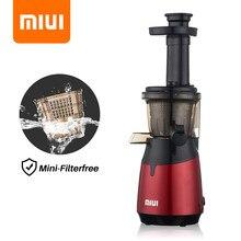 MIUI Mini centrifugeuse lente vis presse à froid extracteur,breveté sans filtre technologie,2021,électrique fruits et légumes presse-agrumes Machine,Rendement de jus super élevé,Peut faire de la crème glacée