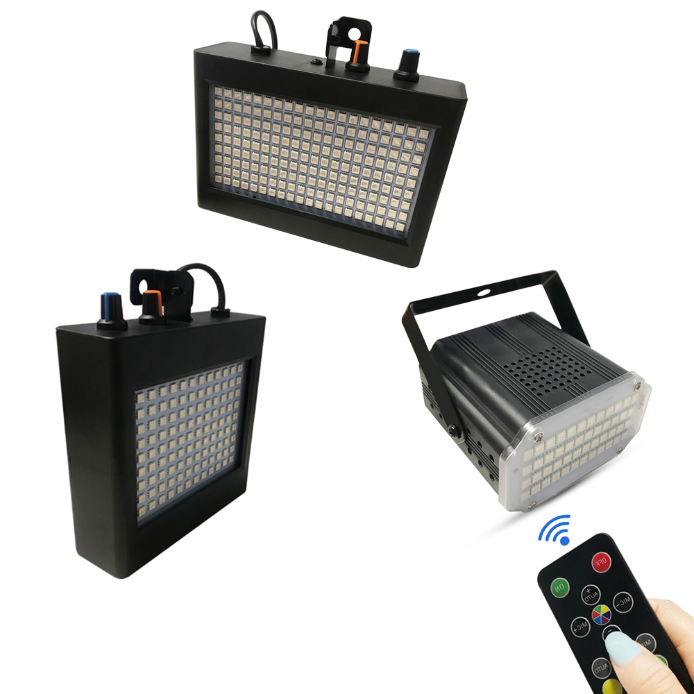 RGB LED DJ Disco Sound Activated Stage Lighting Effect Party Holiday Club 48/108/180 Leds Strobe Flash Light With Remote Control