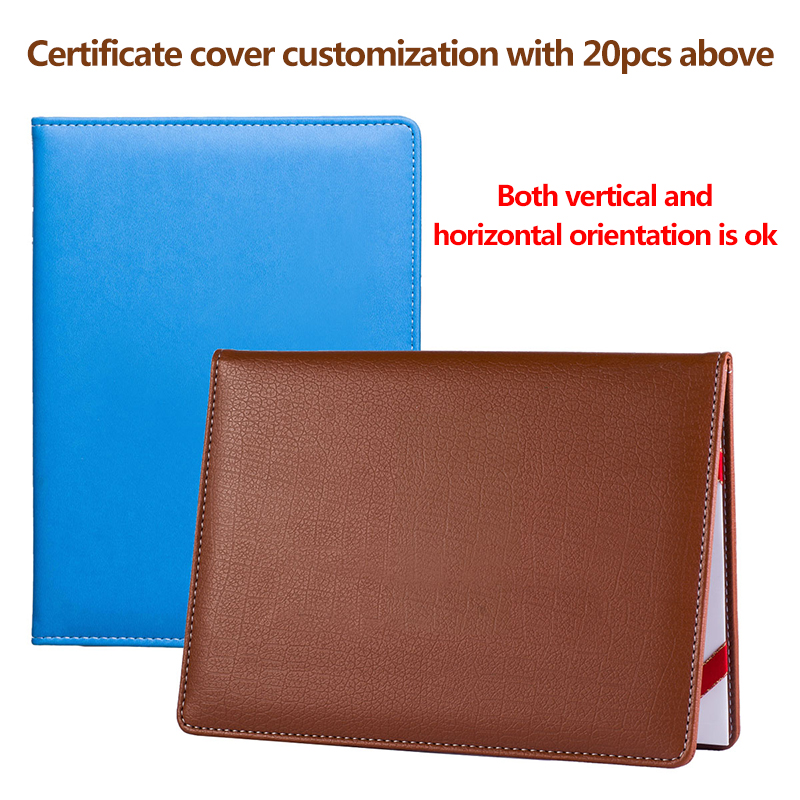 Luxury Leather Certificate Holder A4 A5 Diploma Cover,Custom Blank Folio Certificate