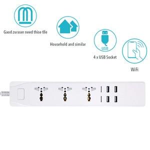 Image 3 - WiFi akıllı güç şeridi evrensel çıkışları priz USB uzaktan ses kablosuz kontrol dalgalanma koruyucusu ile Alexa Google ev