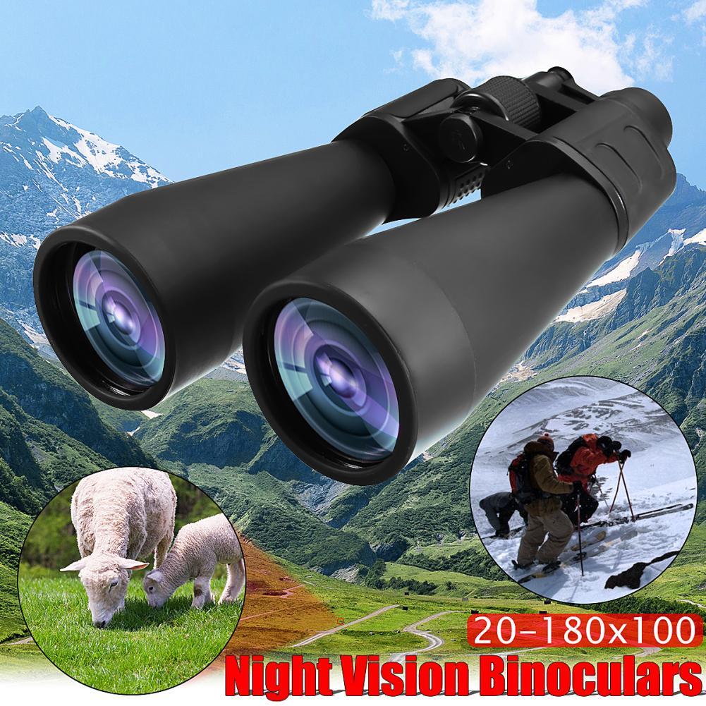 Portable Binocular Telescope Zoomable 20-180x100 Binoculars Outdoor Hunting Travel Optical Telescope 28cm X 21.5cm X 10.8cm