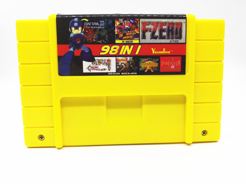 Super 98 in 1 US Version With Game Castlevania Dracula X Captain Commando Contra III Final Fight 3 Turles IV Megaman X 7