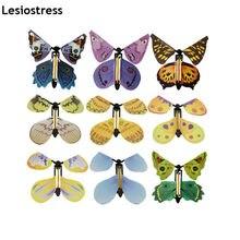 Lesiostress 5 sztuk magiczny motyl latający karta zabawka z pustymi rękami słonecznego motyl ślub magiczne rekwizyty magiczne sztuczki