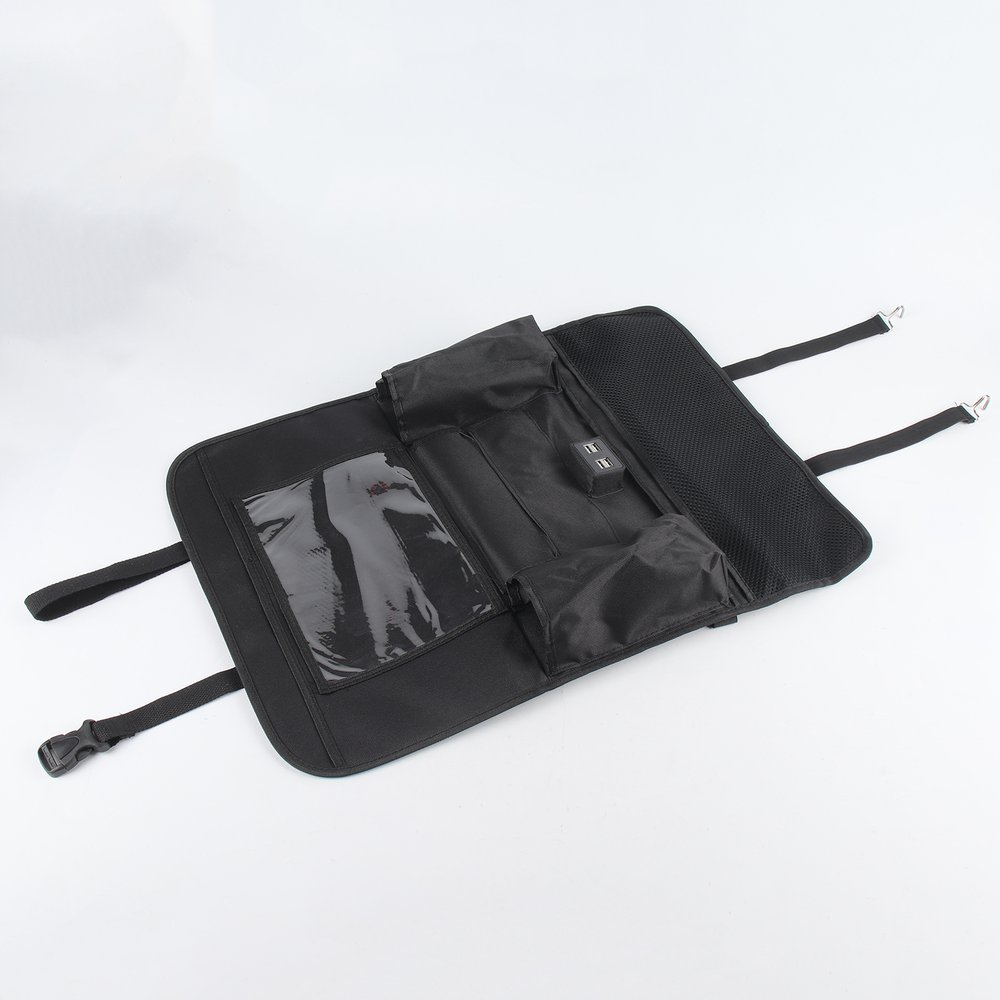 Back Car Seat Organizer Mat Car Rear Storage Pockets Kick Protector 1 PC EQ-01