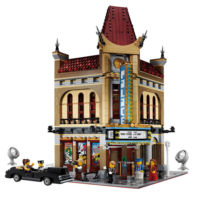 15006 30006 Ideas Series The Palace Cinema Model Building Blocks Set Lepining 10232 Classic House Architecture Toys