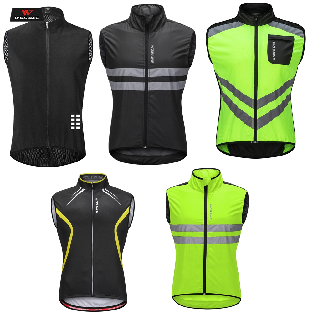 WOSAWE Reflective Motorcycle Safety Vest Chaleco High Visibility Gilet Moto Clothing Motocross Night Running Cycling Off-road