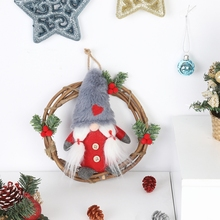 Get more info on the Plush Gnome Rattan Wreath Christmas Garlands With Swedish Santa Tomte Front Door Wreaths For Home Wall DecorCM