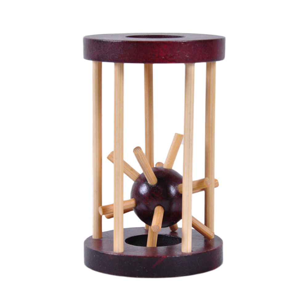 Деревянная игрушка прорезыватель для мозгов, интеллектуальный замок Kong Ming, вынимающий Шипованный шар, мозговой Прорезыватель для детей, вз