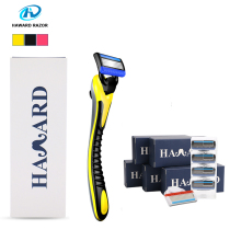HAWARD Razor Men's Manual Shaver Shaving Razor Shaving Machine With 5-layer Blade Replacement Razor Heads For Hair Removal