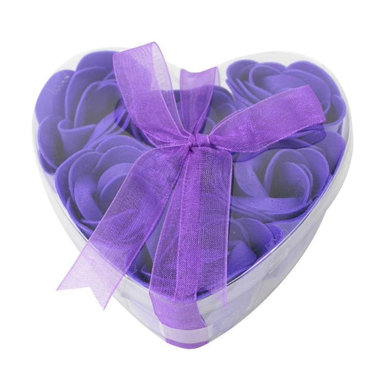 Rose Petal Shaped Soap Slice With A Box Of Heart