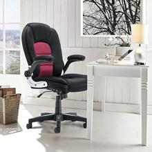 Seatingplus High Back Home Office Chair Leather Computer Desk Chair Adjustable Hight with Movable Armrest