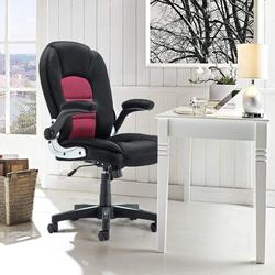 Seatingplus Tinggi Kembali Kursi Kantor Kulit Komputer Meja Kursi Dapat Disesuaikan Tinggi dengan Bergerak Sandaran Tangan