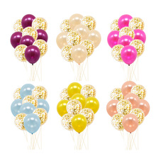 12 inch rose gold bright paper latex balloon birthday party wedding decoration set balloon baby shower Festive party supplies