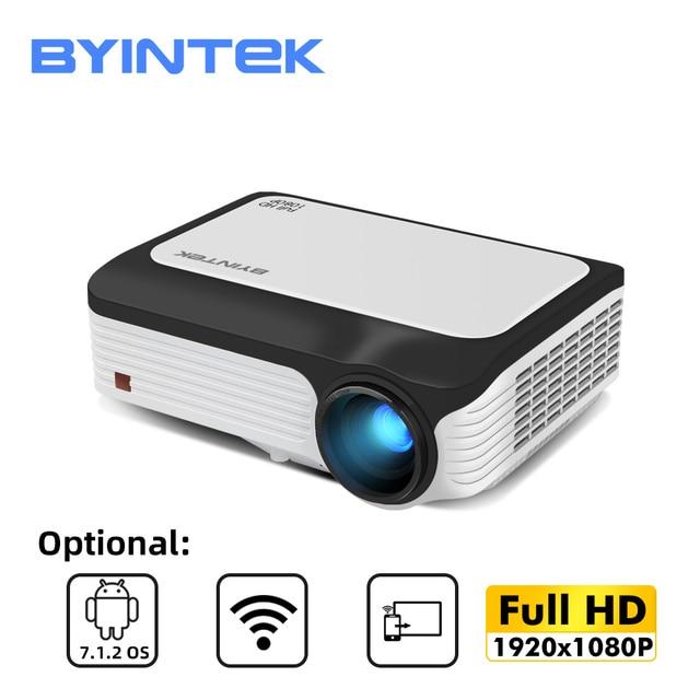 BYINTEK M1080 풀 HD 1080P 스마트 안 드 로이드 WIFI 홈 시어터 휴대용 LED 미니 프로젝터 비머 3D 4K
