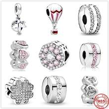 2020new brilhante caminho pétalas de amor clipe charme talão caber original 3mm pan encantos prata 925 pulseira jóias para as mulheres diy fazendo