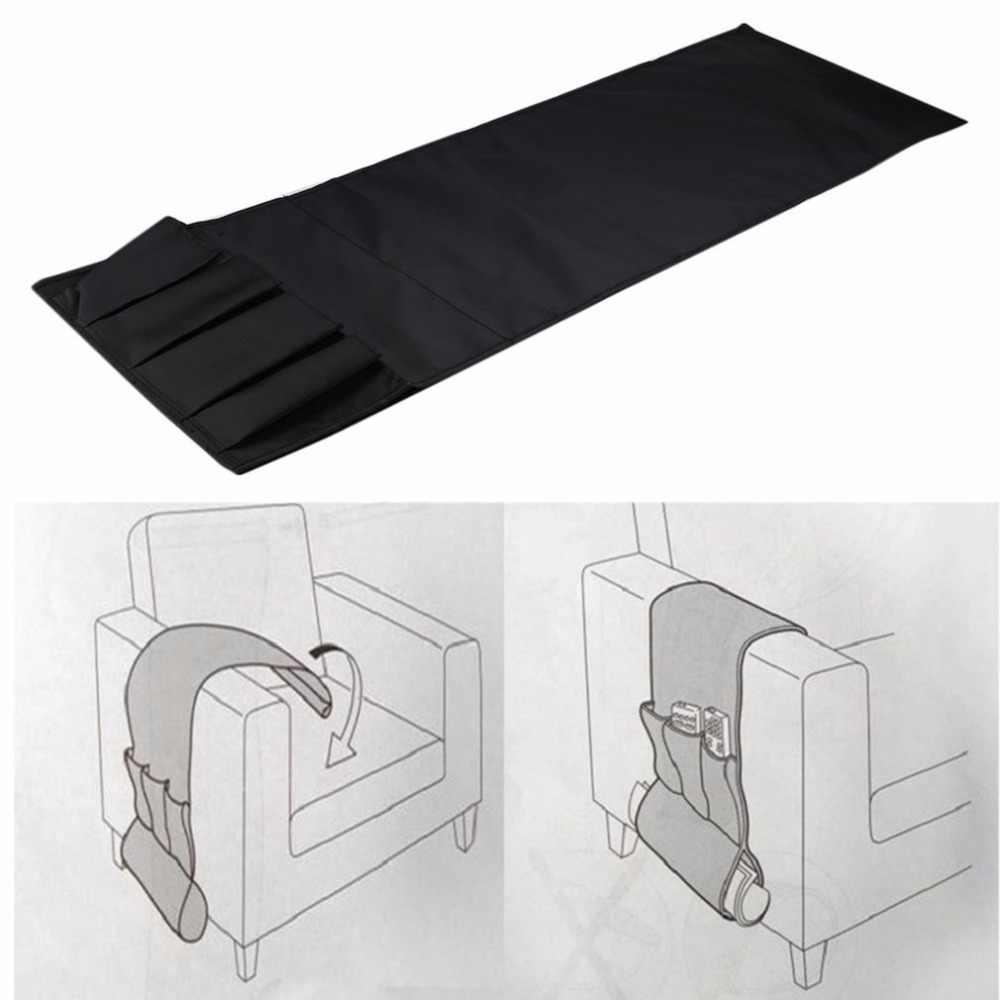 โซฟากระเป๋าเก้าอี้พนักพิงแคดดี้กระเป๋าเก็บ Multipockets สำหรับหนังสือโทรศัพท์กระเป๋ารีโมทคอนโทรล