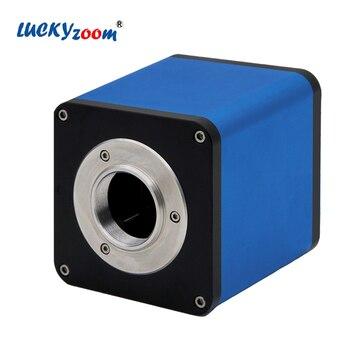 Luckyzoom de enfoque automático de almacenamiento de la unidad 1080p HDMI 60fps sony sensor cmos cmount industrial estéreo microscopio Cámara + 1/2ctv adaptador
