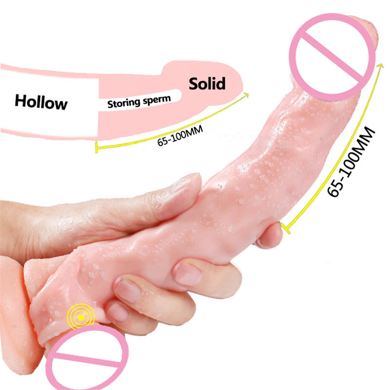 Reusable Condoms Penis Silicone Condom Sleeves Realistic Cock Extender Dick Enlargement Sex Toy For Men Adult Delay Ejaculation Pumps & Enlargers     - title=