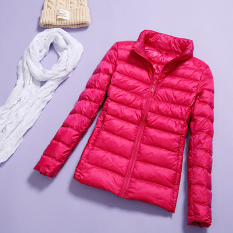 New Spring And Autumn Women Slim Jacket Warm Down Large Size S-7X Female Bomber Jacket Thin And Fashion Brand Coat