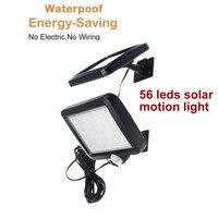 56 LED Solar Powered PIR Motion Sensor Wand Licht Wasserdichte Outdoor Garten menschlichen körper sensor Solar Lampe Kronleuchter Anhänger-in Solarlampen aus Licht & Beleuchtung bei
