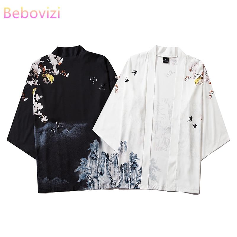 INS хит, китайский стиль, уличная мода, Харадзюку, кимоно, косплей, японский, мужской и женский кардиган, блузка, топ, Haori Obi, азиатская одежда