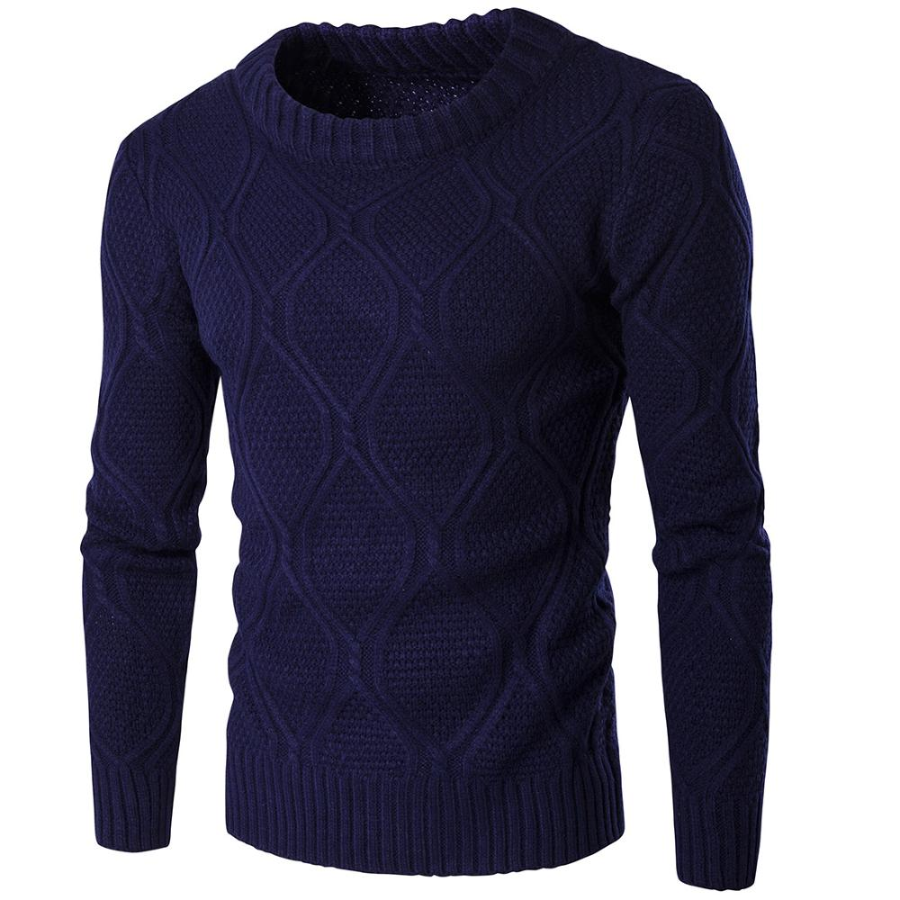Men's Sweater Knit Long Solid Color Regular Sweaters For Man